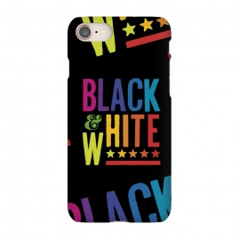 iPhone 7 SlimFit Colorful Black & White by Dellán (color,colorful,black and white,retro,vintage,80´s style,neon,rainbow,hipster,geek,gamer,arcade,typography,text,quote,summer,spring,fall,winter,minimalism,classic)