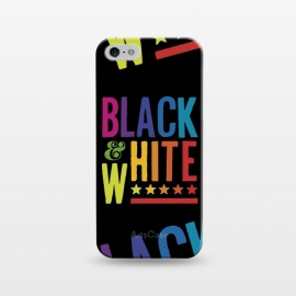iPhone 5/5E/5s  Colorful Black & White by Dellán (color,colorful,black and white,retro,vintage,80's style,neon,rainbow,hipster,geek,gamer,arcade,typography,text,quote,summer,spring,fall,winter,minimalism,classic)