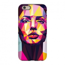 iPhone 6/6s StrongFit Colorful dream by Roland Banrévi (poly,polygon,low-poly,woman,beauty)