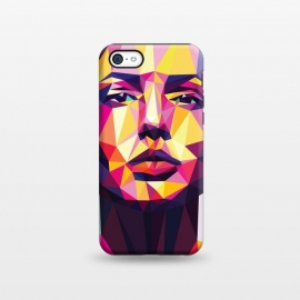 iPhone 5C  Colorful dream by Roland Banrévi (poly,polygon,low-poly,woman,beauty)