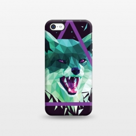 iPhone 5C  Fox by Roland Banrévi (fox,animal,animals,poly,low poly,polygon)