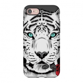 iPhone 8/7  Rose by Roland Banrévi (tiger,animal,animals,rose,black and white,vector,portrait)