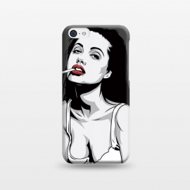 iPhone 5C  Red lips by Roland Banrévi