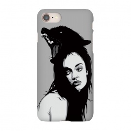 iPhone 7 SlimFit Canis lupus by Roland Banrévi (girl,woman,beauty,portrait,wolf,animal,animals)