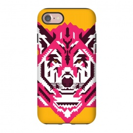 iPhone 8/7  Geometric wolf by Roland Banrévi (wolf,animal,animals,geometry,magenta,vector,portrait)