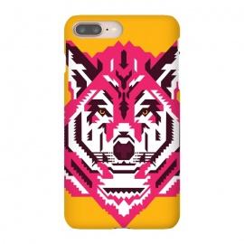 iPhone 8/7 plus  Geometric wolf by  (wolf,animal,animals,geometry,magenta,vector,portrait)