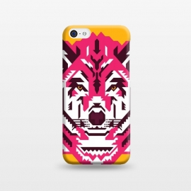 iPhone 5C  Geometric wolf by Roland Banrévi