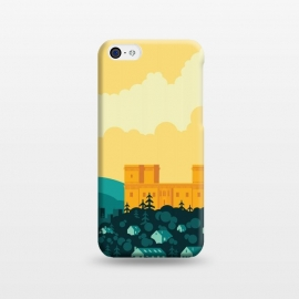 iPhone 5C  Golden castle by Roland Banrévi (city,castle,sky,sunset,clouds,buildings,vector)