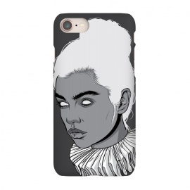iPhone 7 SlimFit Gray lady by Roland Banrévi (collar,woman,girl,portrait,beauty)