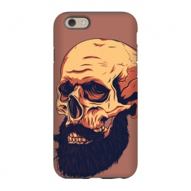 iPhone 6/6s StrongFit Mr. Skull by Roland Banrévi (skull,beard,hipster,portrait)