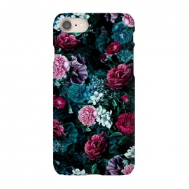 iPhone 8/7  Floral Pattern IV by Riza Peker (Floral,Dark,Print,Pattern,botanical,flowers,RizaPeker)