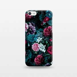 iPhone 5C  Floral Pattern IV by Riza Peker (Floral,Dark,Print,Pattern,botanical,flowers,RizaPeker)