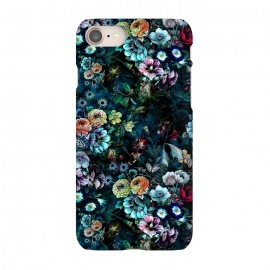 iPhone 8/7  Floral Pattern VIII by Riza Peker (Botanical,Flowers,dark,art,design,RizaPeker)