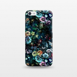 iPhone 5C  Floral Pattern VIII by Riza Peker (Botanical,Flowers,dark,art,design,RizaPeker)