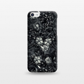 iPhone 5C  Floral Pattern IX by Riza Peker (Botanical,Flowers,Blackandwhite,art,artist,design,RizaPeker)