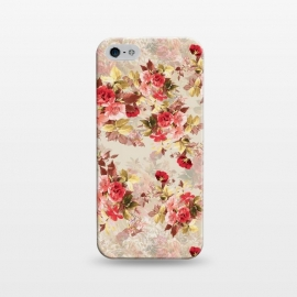 iPhone 5/5E/5s  Floral Pattern X by Riza Peker (Flowers,Roses,art,design,RizaPeker)