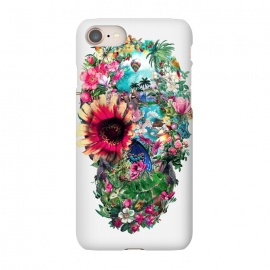 iPhone 7 SlimFit Summer Skull II by Riza Peker (skull,art,birds,butterflies,digital,design,rizapeker)
