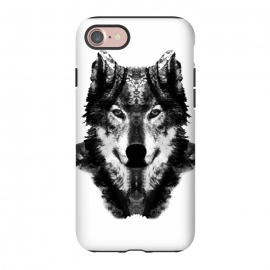 iPhone 8/7  The Black Forest Wolf  by Rui Faria (wolf,wolves,nature,black and white,ink,paint,forest)