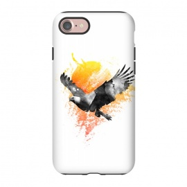 iPhone 8/7  The Eagle that touched the sun by Rui Faria (eagle,sun,ink,paint,watercolor)