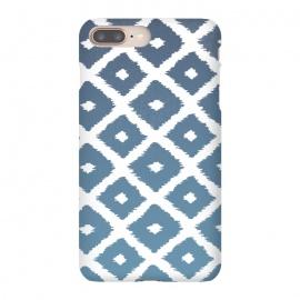 iPhone 8/7 plus  Ikat Linocut by  (ikat,boho,pattern,fashion,linocut)