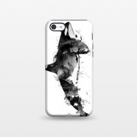iPhone 5C  Killer Whale by Rui Faria (whale,killer whale,animal,animals,wild animal,paint,ink)
