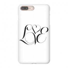 iPhone 8/7 plus  Love by  (love,type,typography,minimal,valentines,clean)