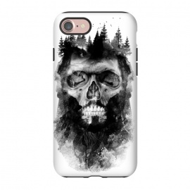 iPhone 8/7  Old Lumberjack by Rui Faria (skull,abstract,ink,paint,black and white,trees)