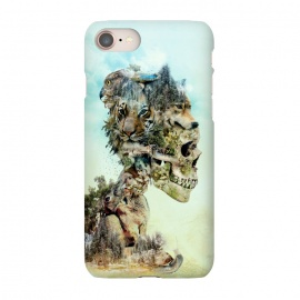 iPhone 7  Nature Skull by Riza Peker (skull,animals,tiger,falcon,wolf,rabbit,surreal,art,collage)