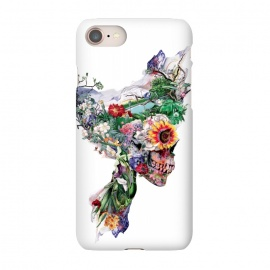 iPhone 7 SlimFit Nature Skull II by Riza Peker (Floral,skull,collage,art,design,surreal,Rizapeker)