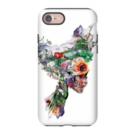 iPhone 8/7  Nature Skull II by Riza Peker (Floral,skull,collage,art,design,surreal,Rizapeker)