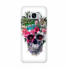 Summer Skull III by Riza Peker (floral,skulls,summer,colors,tropical,surreal,art,design,rizapeker)