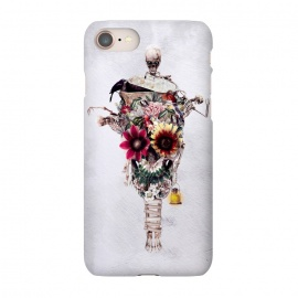 iPhone 7 SlimFit Scarecrow by Riza Peker (skull,flowers,bird,skeletones,surreal,art,design,rizapeker)