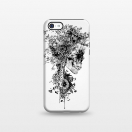 iPhone 5C  Skull BW by Riza Peker