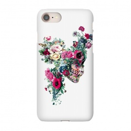 iPhone 7 SlimFit Skull VII by Riza Peker (skull,flowers,baroque,surreal,art,rizapeker)