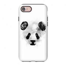 iPhone 8/7  Panda by Rui Faria (panda,ink,paint,watercolor,black and white,minimal,clean,cute)