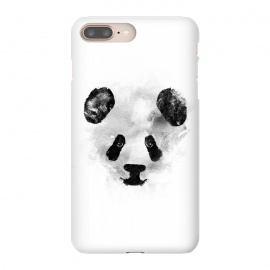 iPhone 8/7 plus  Panda by  (panda,ink,paint,watercolor,black and white,minimal,clean,cute)