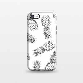 iPhone 5C  Pineapples black and white by Rui Faria (pineapple,fruit,fruity,nature,pattern)
