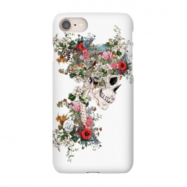 iPhone 7 SlimFit Skull Queen by Riza Peker (skull,snake,bird,flowers,collage,art,artist,design,cool,creative,rizapeker)