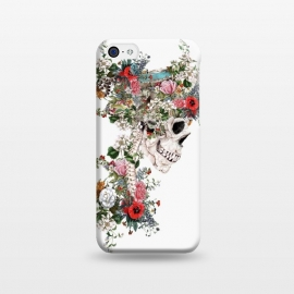 iPhone 5C  Skull Queen by Riza Peker (skull,snake,bird,flowers,collage,art,artist,design,cool,creative,rizapeker)
