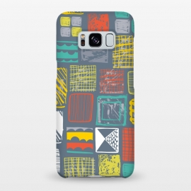Galaxy S8+  Square Metropolis Leaves by Rachael Taylor