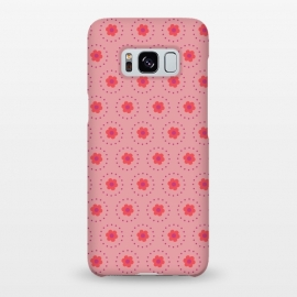 Galaxy S8+  Pink Circular Floral by Rosie Simons