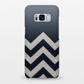 Galaxy S8+  Chevron Block Silver Grey by Monika Strigel ()