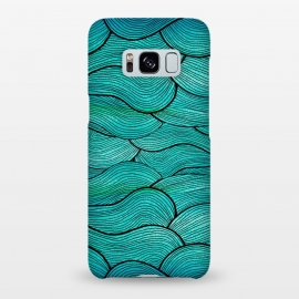 Galaxy S8+  Sea Waves Pattern by Pom Graphic Design ()