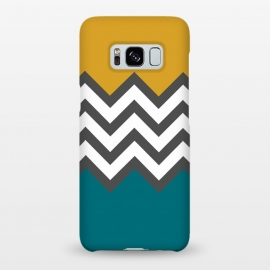 Galaxy S8+  Color Blocked Chevron Mustard by Josie Steinfort  ()