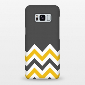 Galaxy S8+  Color Blocked Chevron Mustard Gray by Josie Steinfort  ()