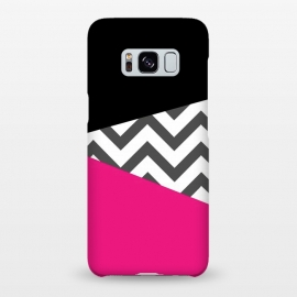 Galaxy S8+  Color Blocked Chevron Black Pink  by Josie Steinfort  ()