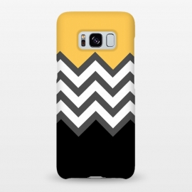 Galaxy S8+ SlimFit Color Blocked Chevron Black Yellow by Josie Steinfort  ()