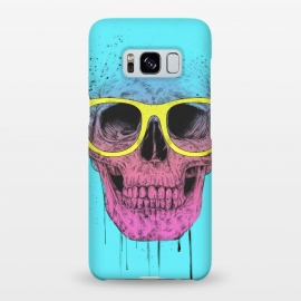 Galaxy S8+  Pop Art Skull With Glasses by Balazs Solti ()