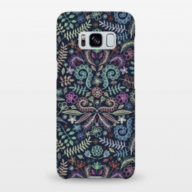 Galaxy S8+  Colored Chalk Floral Doodle Pattern by Micklyn Le Feuvre ()