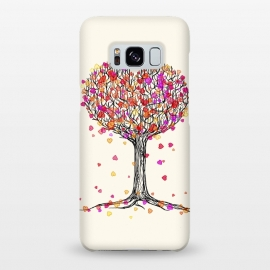 Galaxy S8+  Love in the Fall Heart Tree Illustration by Micklyn Le Feuvre ()